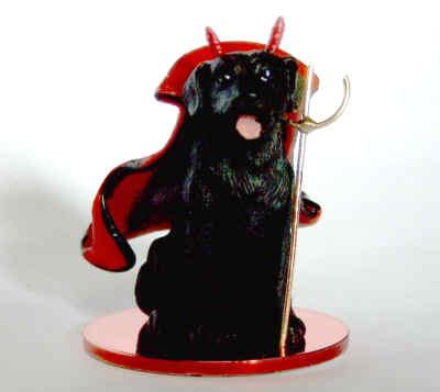 Schwarzer Labrador Teufel