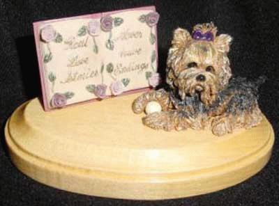 Memorial with Yorkie