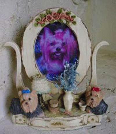 Fotorahmen mit Yorkshire Terrier