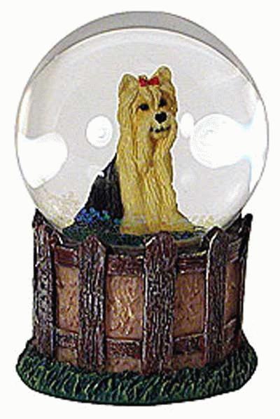 Yorkie Mini Glitter Globe / Schneekugel