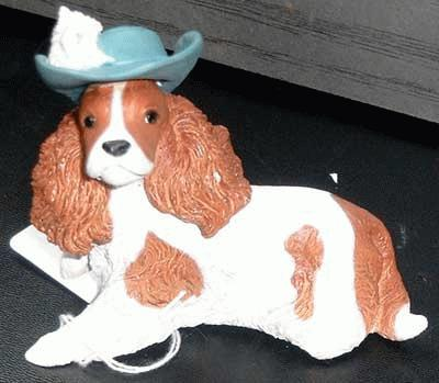 Cavalier King Charles Spaniel with hat
