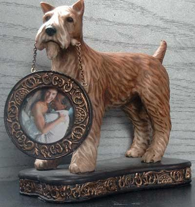 Irish Terrier with picture frame