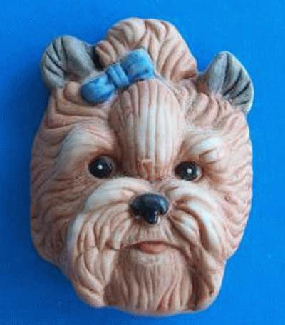 Yorkshire Terrier Kopf / Magnet