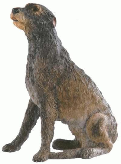 Sitzender Irischer Wolfshund