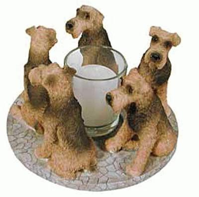 Airdale  / Welsh Terrier Kerzenhalter / Kerzenring
