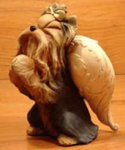 Betender Yorkshire Terrier Engel