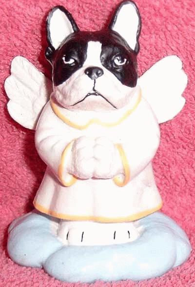 Französische Bulldogge als Engel