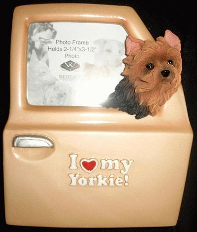 Yorkshire Terrier Autotüre Bilderrahmen I Love My Yorkie