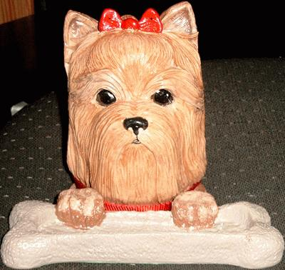 Yorkshire Terrier Dog Bookend