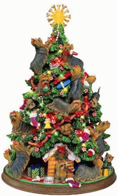 Yorkshire Terrier christmas tree