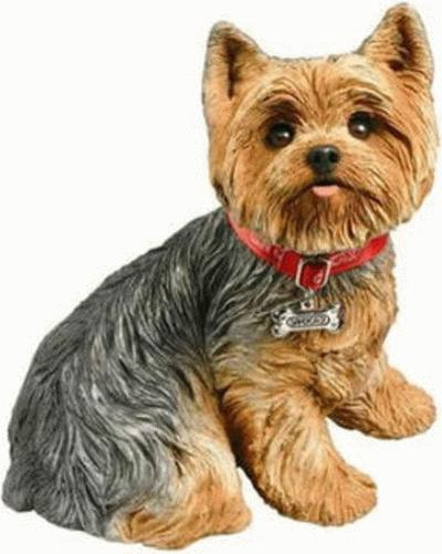 Sitting Yorkshire Terrier - Puppy Large Life Size LS549