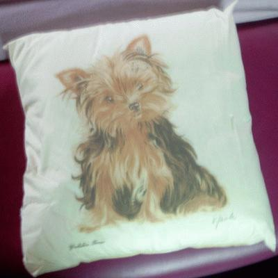 Cushion with Yorkshire Terrier
