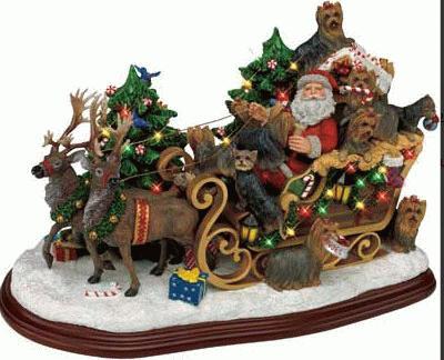 Yorkshire Terrier Weihnachtsschlitten