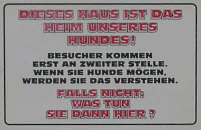 Haus unseres Hundes