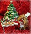 """Yorkshire Terrier """"In der Weihnachtsbäckerei"""""""