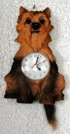 Yorkshire Terrier Uhr mit Wackel-Schwänzchen