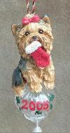 Weihnachts Yorkshire Terrier