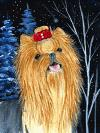 GROSSE YORKSHIRE TERRIER FLAGGE, FAHNE