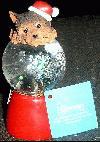 Yorkshire Terrier LED Weihnachts-Schneekugel